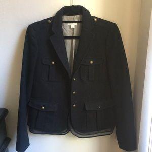 Loft Navy Blue Wool Blazer
